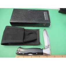 Black Jack Knives Black Micarta Mid-Folding  Mamba  Model BJ-90
