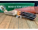 Bear Hunting Knife With Gut Hook Stag Bone For the NAHC