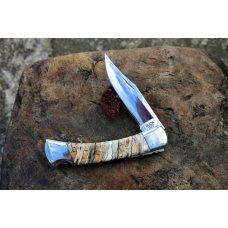 BUCK 110 CUSTOM MAMMOTH TOOTH WITH FILE WORK LOCKBACK