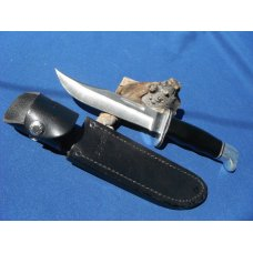 Vintage Buck 119 Fixed Blade Knife In Original Sheath. Made in the USA!!!