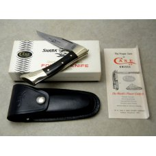 Case XX Stainless USA 7 Dot (1973) Wood 7197 LSSP Shark Tooth Lockback Knife in Box