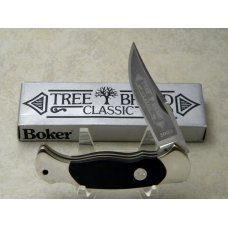 Boker Solingen Germany Stainless Tree Brand Classic Black 2003 Lockback Knife in Box