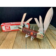 Henckels Solingen Germany Made by Boker Red Pick Bone 5 Blade CanoeWhittler