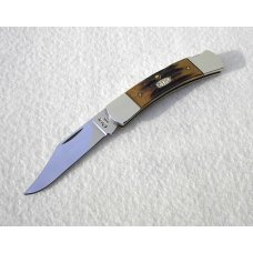 CASE XX USA RARE 1997 GENUINE STAG DISCONTINUED PATTERN # 51405L SS LOCK BACK KNIFE