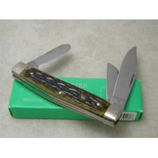 Hen and Rooster Bertram Cutlery Solingen Germany Bone 433-AP Stockman Knife in Box