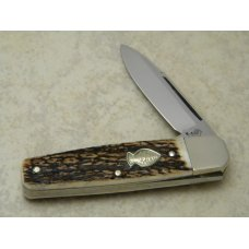 Hen & Rooster Bertram Germany CM-6 Stag 1 Blade Coffin  Jack Knife