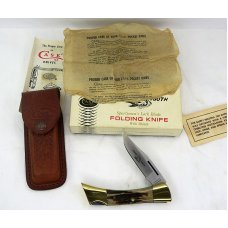 Case XX 1979 Stag Sharktooth 5197 L  Box Sheath and Papers  Original Case Oil Paper