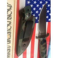 Vintage Parker Smoky Mountain Survival / Boot knife w/ Sheath -Quick Release Sheath -M/NM and NOS