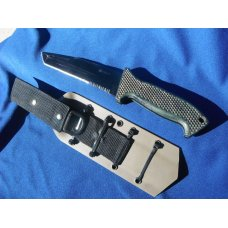 DISCONTINUED  M60 SOFTB- Tanto Pt./ Combo Edge - Columbia River M60-14PK,  Combat Knife Kydex sheath