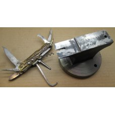 Cutler's Stiddy. Anvil for Pocket Knife Assembly and Repair.