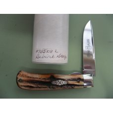 GREAT EASTERN 2008 SCOUT TRAPPER LOCKBACK WITH BURNT STAG SCALES