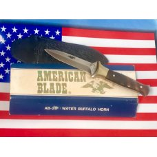 Vintage American Blade Dagger  Boot knife w Eagle Blade Etch w Sheath NOS amp NM
