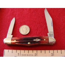 Case Half Whittler #6208 Genuine Red BonesStag  2014