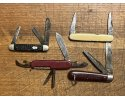 4 vintage pocket knives