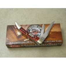 Case XX USA 4-Dot Red Bone 610096 SS Tiny Texas Toothpick Knife in Box
