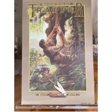 "Remington (Dupont) Bullet Knife Poster ""Trapper"" ""Out on a Limb"" by Larry W. Duke 1989"