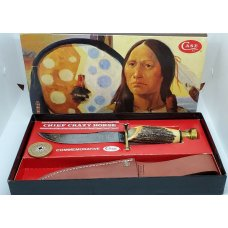 Case XX Knife Fixed Blade Kodiak Hunter Chief Crazy Horse Cch #219 Display Box