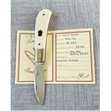 "Vincenzo Balistreri Custom Zulu Knife, 4"" clsd original Bose pattern ,True Elephant Ivory, don't ask"