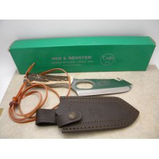 Hen & Rooster German Stainless Toledo Spain Stag HR05004 Guthook Skinner Fixed Blade Sheath Knife