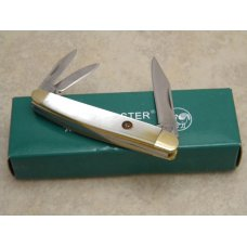 Hen and Rooster Bertram Cutlery Rostfrei Solingen Germany Pearl 203 MOP Whittler Knife in Box
