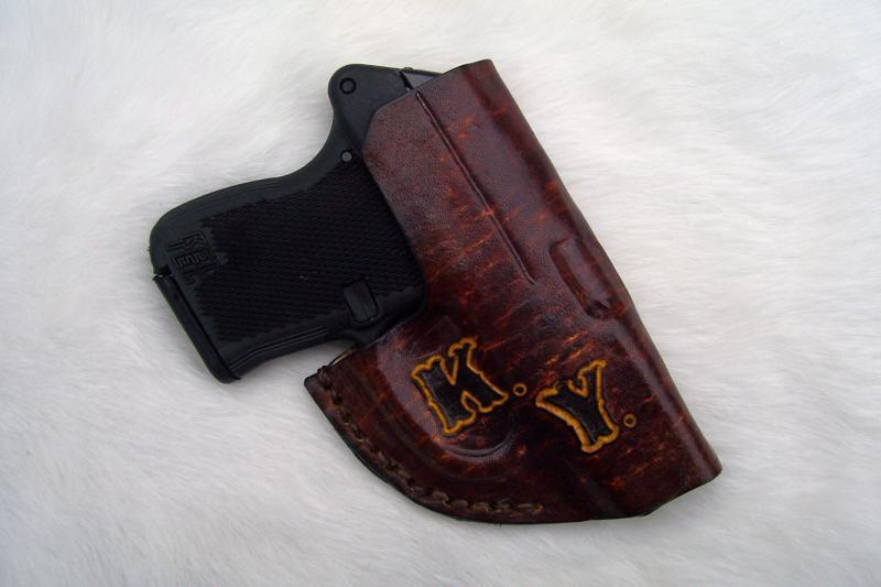 Custom Leather Front Pocket Holster - P3AT, LCP, P238, See
