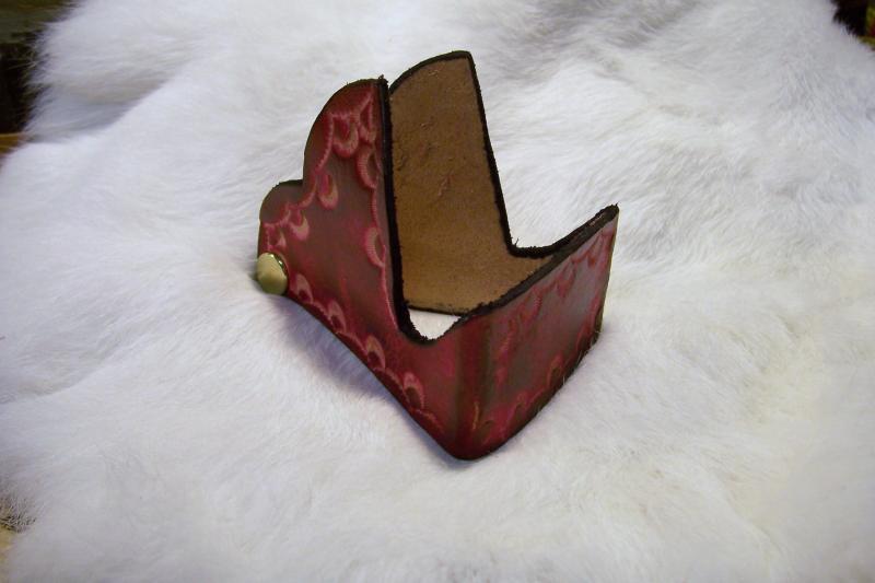 Handmade custom leather business card holder colourmoves
