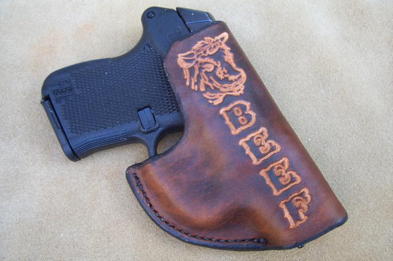 Handmade Leather Pocket Holster - Taurus TCP,Keltec P3AT