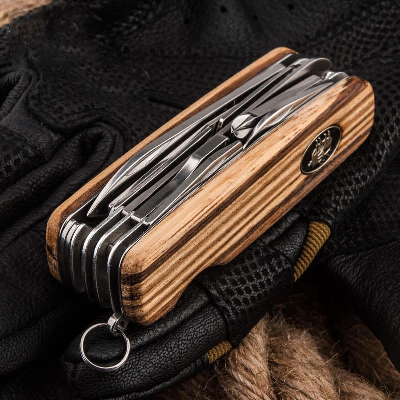 Luxury Wooden Handle Quot Swiss Army Style Quot Multi Tool Pocket