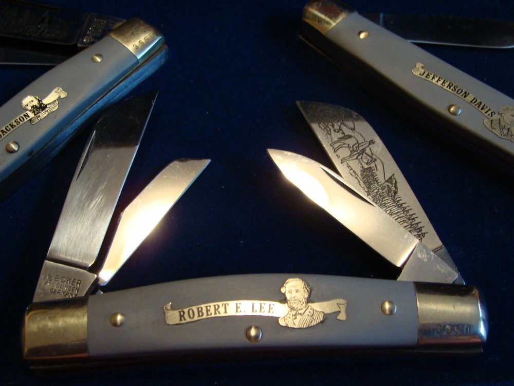 Boker 1979 Dixie Commemorative Three Knife Music Box Set