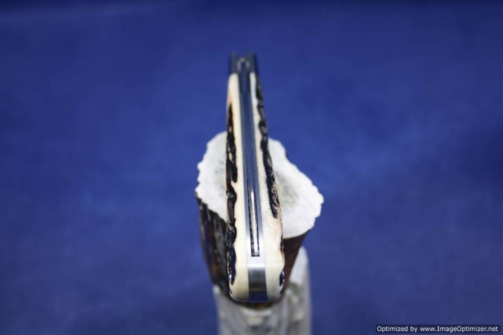 todd davison white stag folder knife 658