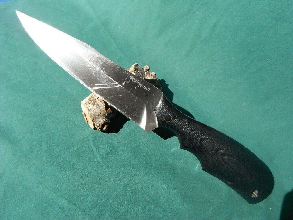 Rick Frigault custom tactical fighter fixed blade knife with