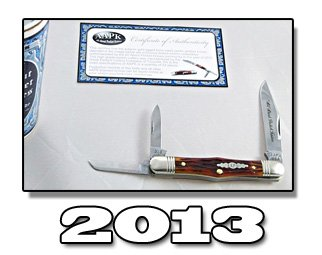2013 AAPK GEC amber gold jigged bone Whittler Knife