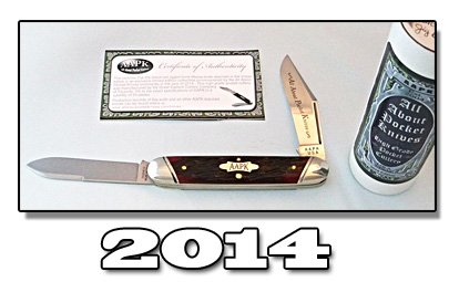 2014 AAPK GEC blood red jigged bone Moose Knife