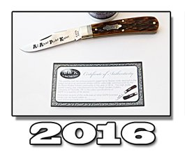2016 AAPK GEC Series Limited Edition Antique Autumn Jigged Bone Stallion Knife