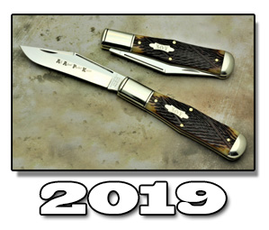 2019 AAPK GEC Series Limited Edition Chestnut Worm Groove Coke Bottle Knife