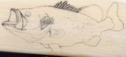 Largemouth Bass Scrimshaw Project - Image 2
