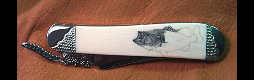 Largemouth Bass Scrimshaw Project - Image 7