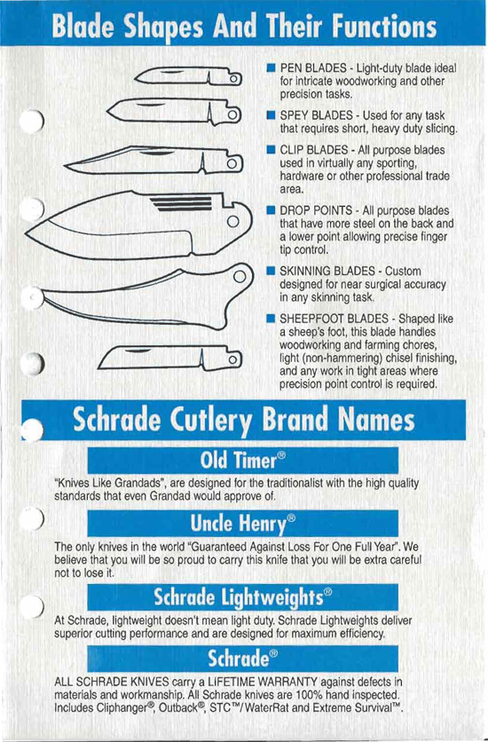 Schrade Knife Bill Of Rights Page 3