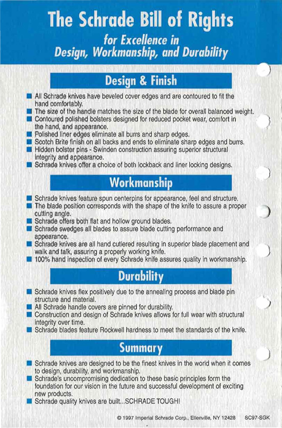 Schrade Knife Bill Of Rights Page 4