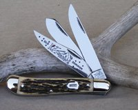 Bulldog BKC 161-A Three Blade Dogleg Trapper Knife
