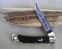 Bulldog Brand Greenbone Calf Roper Lockback Knife