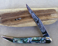 Bulldog Brand Abalone Celluloid Toothpick Knife