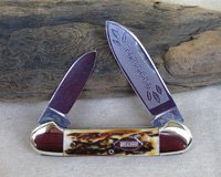 Bulldog Brand Tobacco Etch Canoe Knife