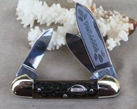Bulldog Brand Three Blade Canoe Stockman Knife