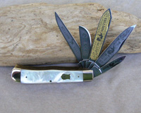 Bulldog Brand 5 Blade Genuine Pearl Trapper Knife