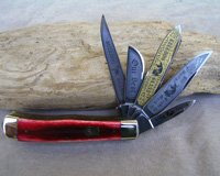 Bulldog Brand 5 Blade Red Bone Trapper Knife
