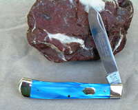 Bulldog Brand Blue Single Blade Trapper Knife