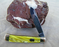 Bulldog Brand Yellow Single Blade Trapper Knife