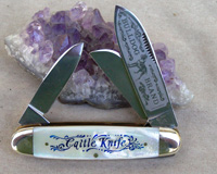 Bulldog Brand Cattle King Scrimshaw Knife