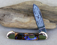 Bulldog Brand Purple Swirl 1 Blade Canoe Knife
